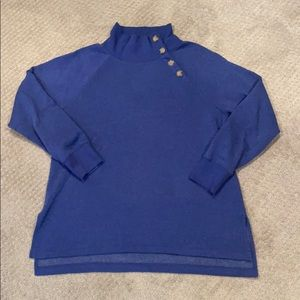 J.crew Factory Cozy Button Sweatshirt